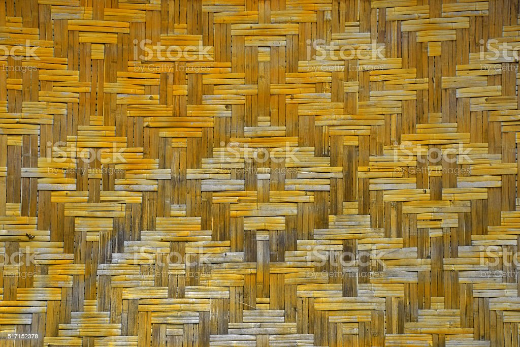 Wicker braided bamboo wall texture royalty-free stock photo