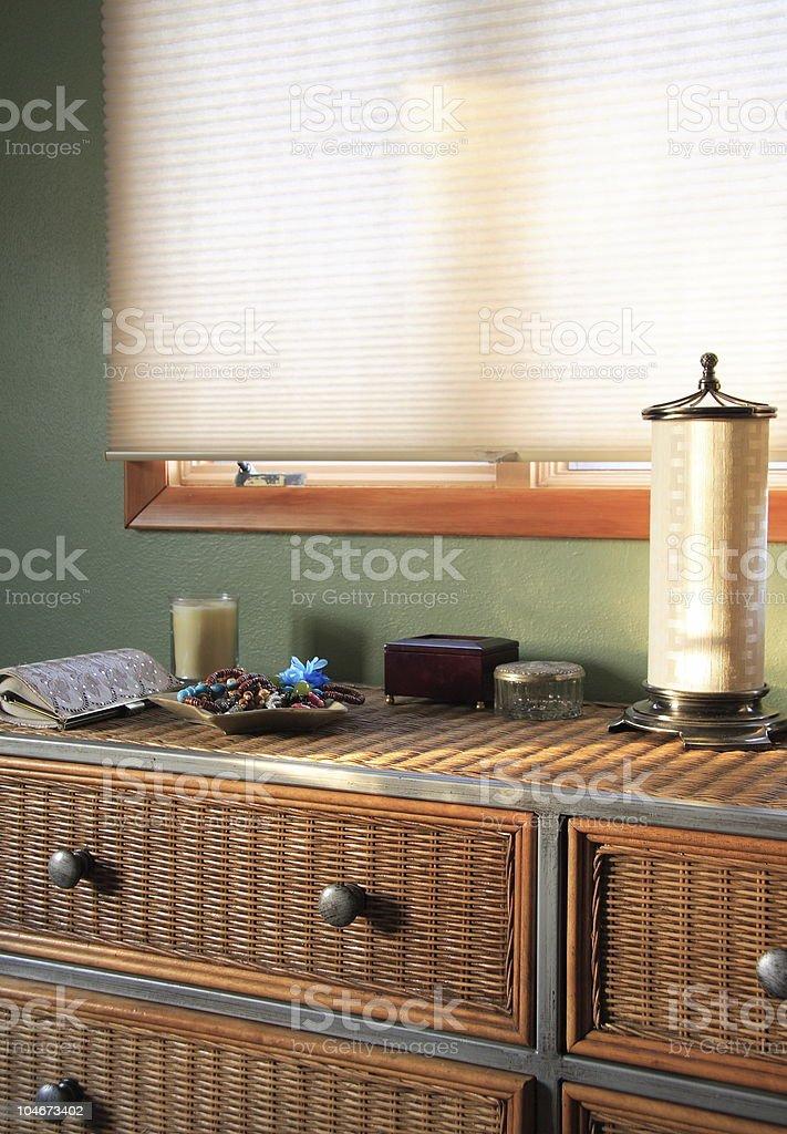 Wicker Dresser stock photo
