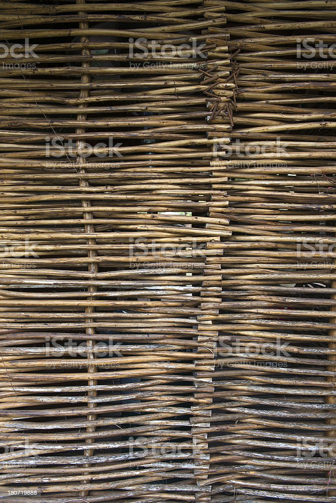 Wicker Fence royalty-free stock photo