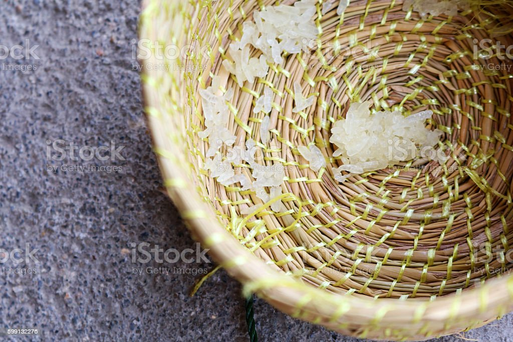 Wicker for sticky rice. stock photo