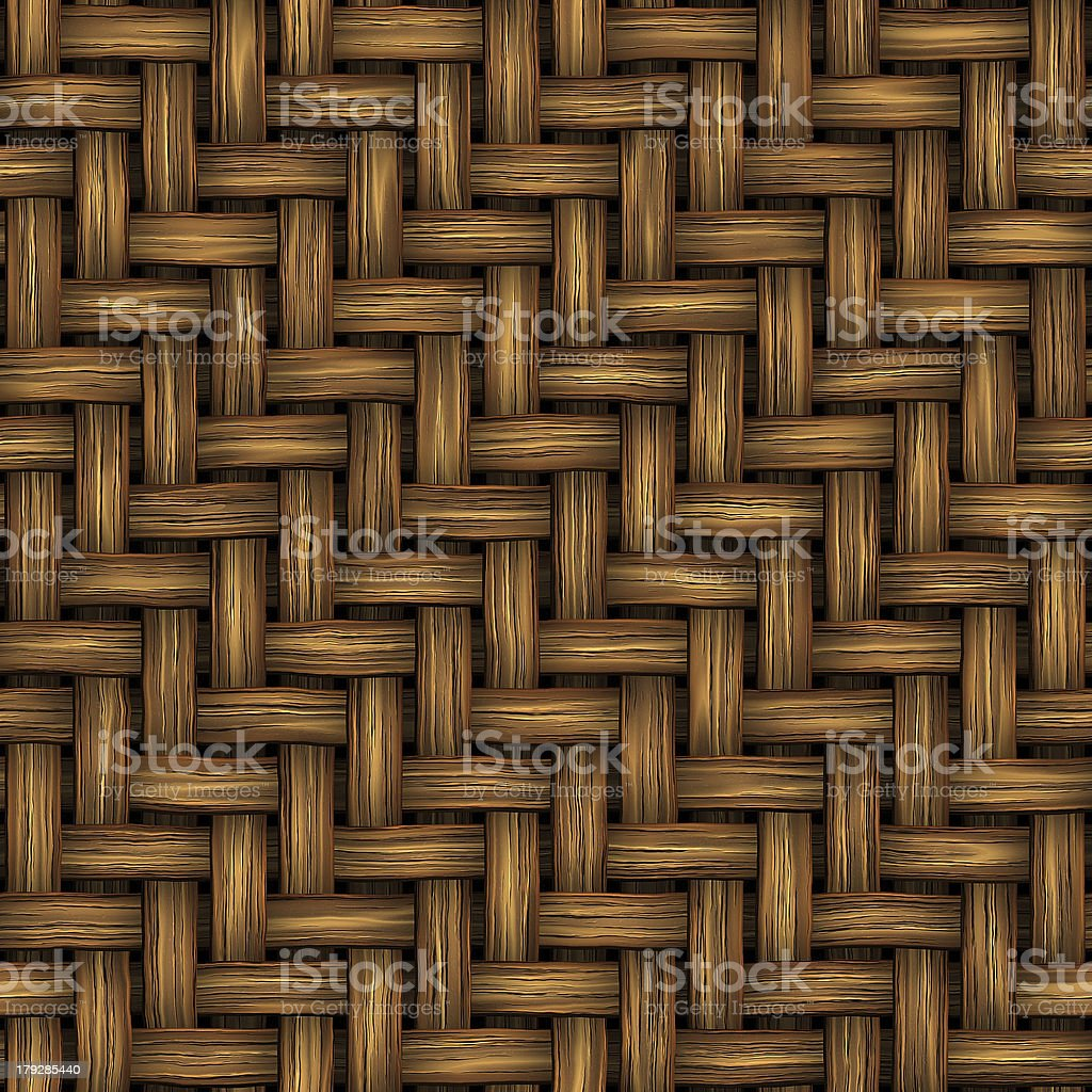 Wicker (Seamless texture) royalty-free stock photo