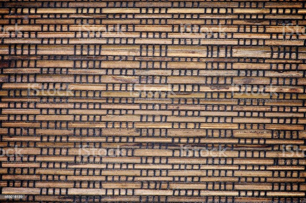 Wicker Straw Mat Background stock photo