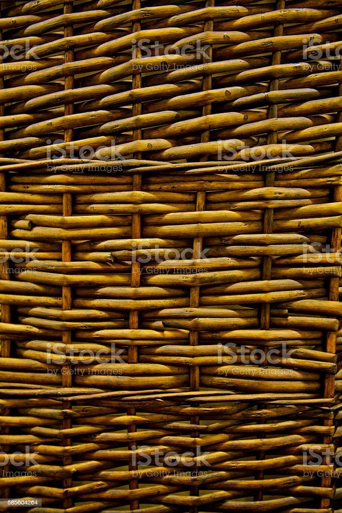 wicker yellow cane rattan bamboo weave plexus tangle twigs woven stock photo