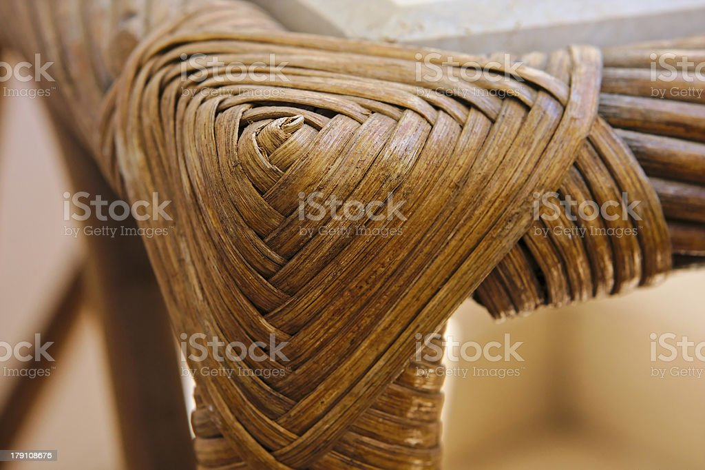 Wickerwork table fragment royalty-free stock photo