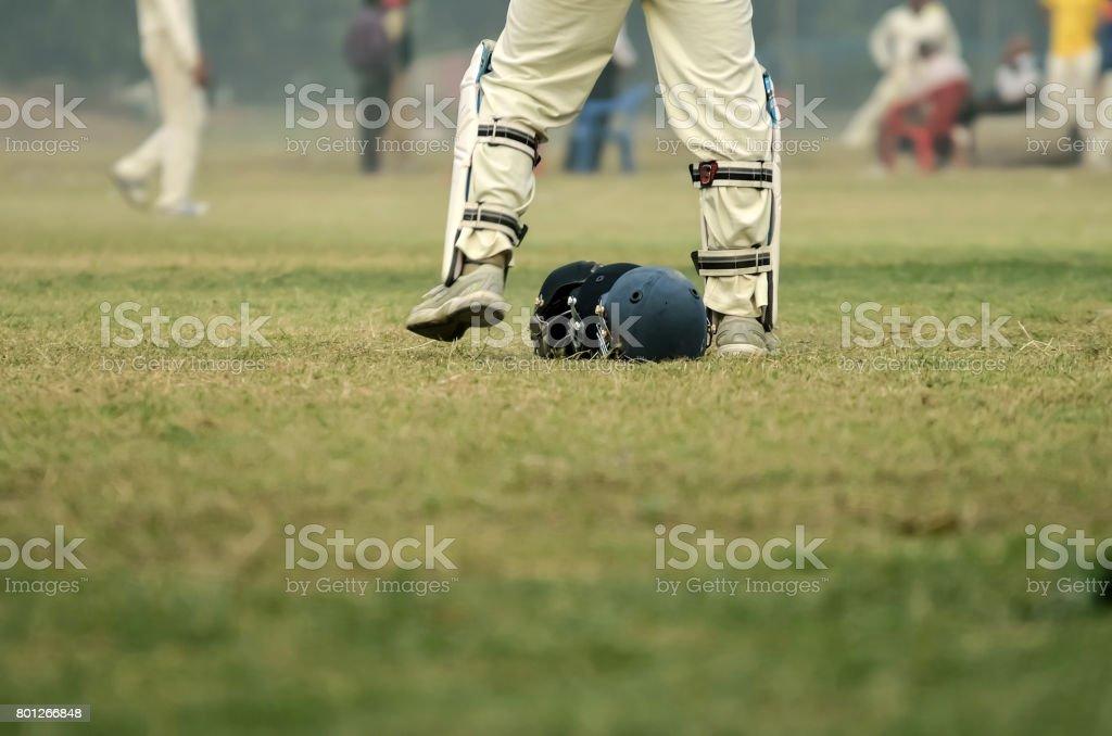 Wicket keeper stock photo