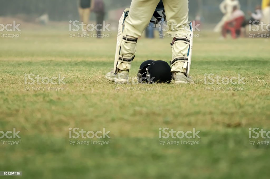 Wicket keeper stock photo