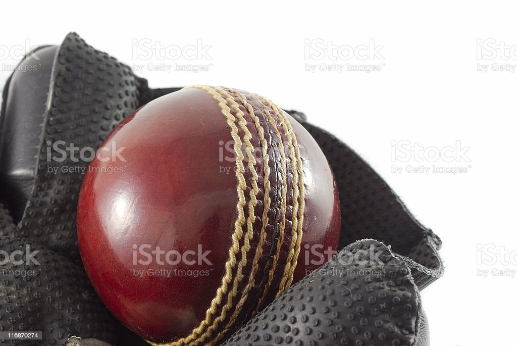 Wicket keeping gloves. stock photo