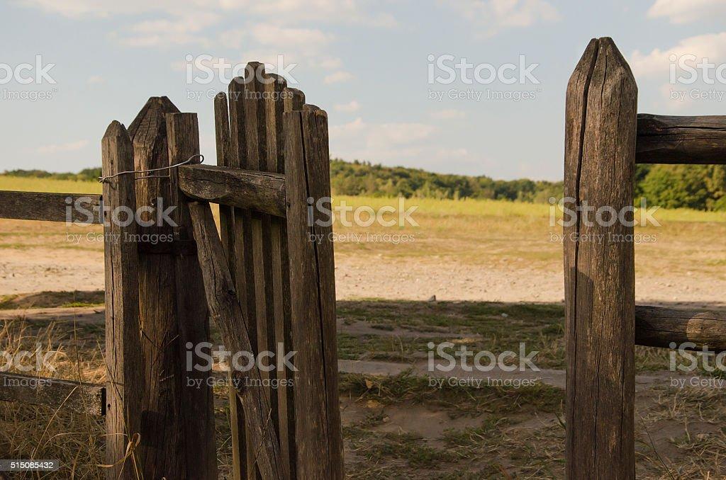 Wicket side gate stock photo