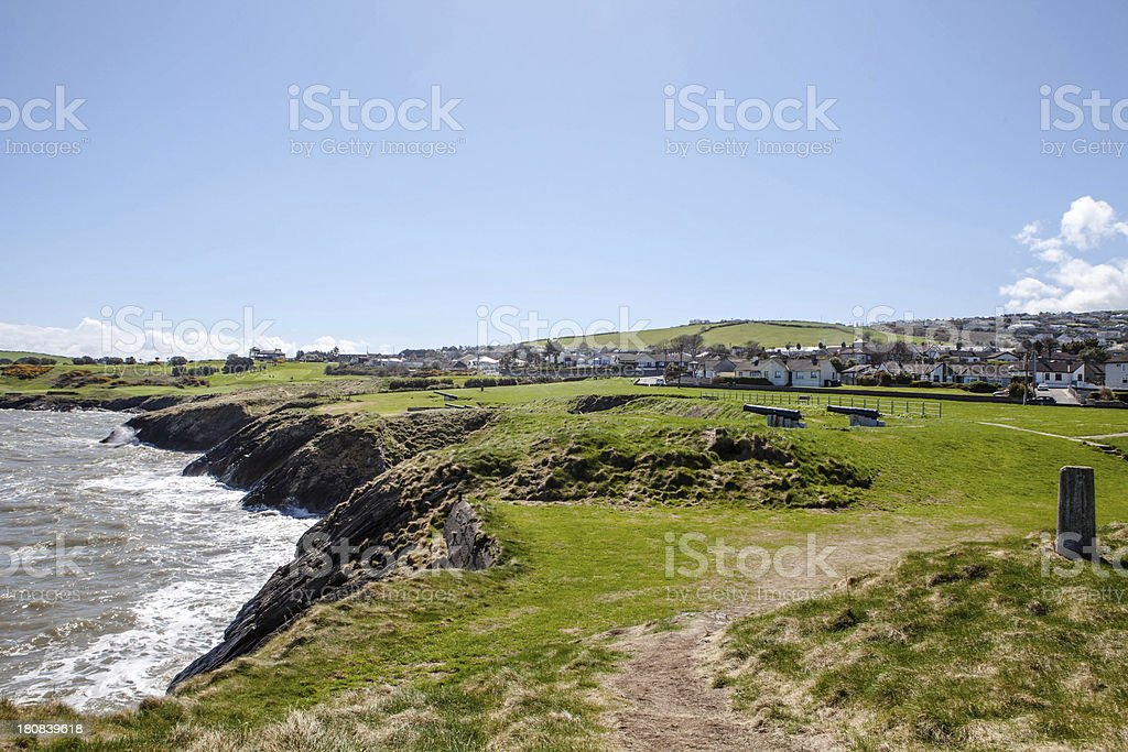 Wicklow Coast,Dublin, Ireland stock photo