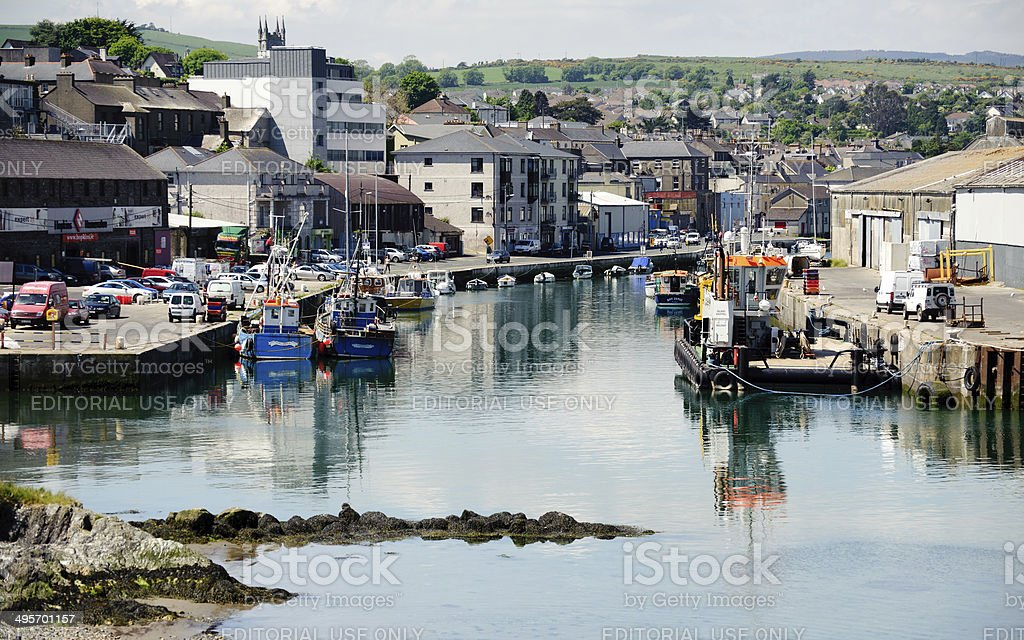 Wicklow harbour stock photo