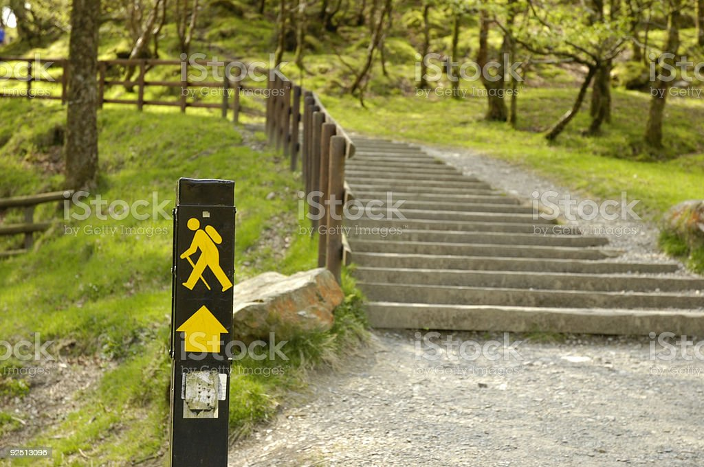 Wicklow Hiking Trail Sign stock photo