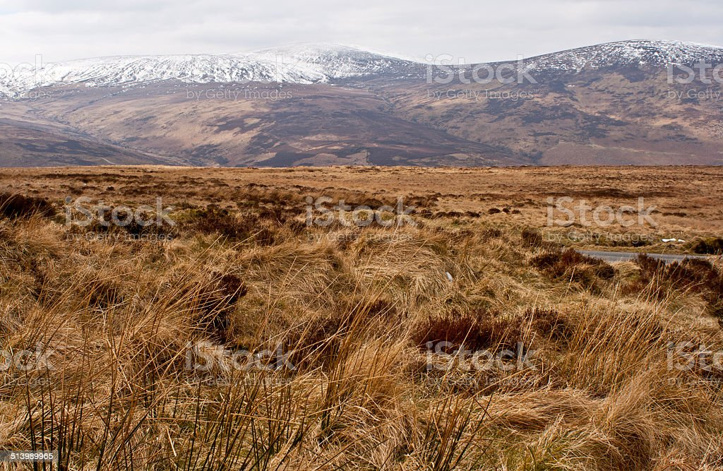 Wicklow Mountains in winter stock photo