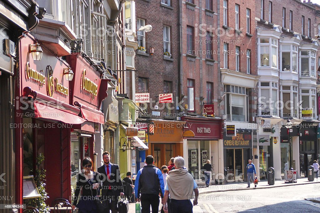 Wicklow Street, Dublin stock photo