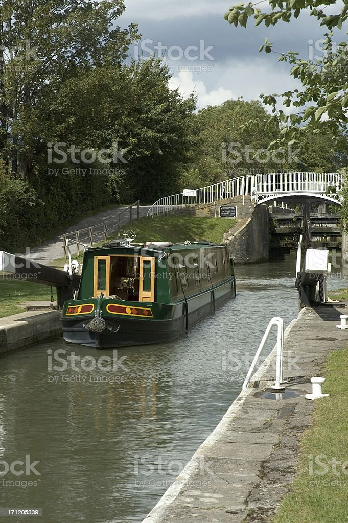 Widcombe Locks royalty-free stock photo