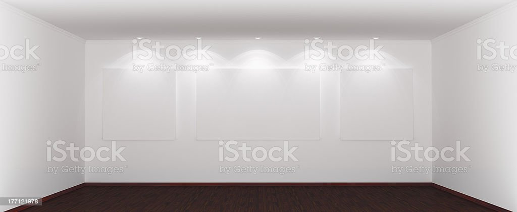 Wide and spacious empty room royalty-free stock photo