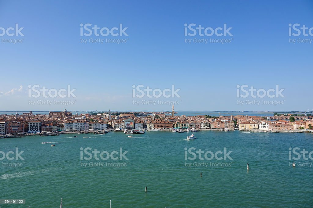 Wide angle aerial view over the city of Venice Lizenzfreies stock-foto