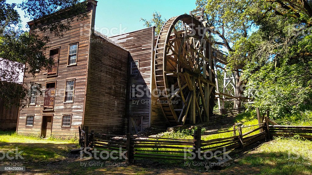Wide Angle Bale Grist Mill State Historic Park Calistoga California stock photo