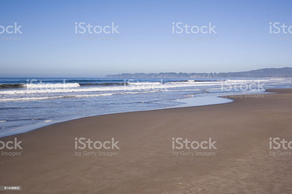 Wide Angle Beach royalty-free stock photo