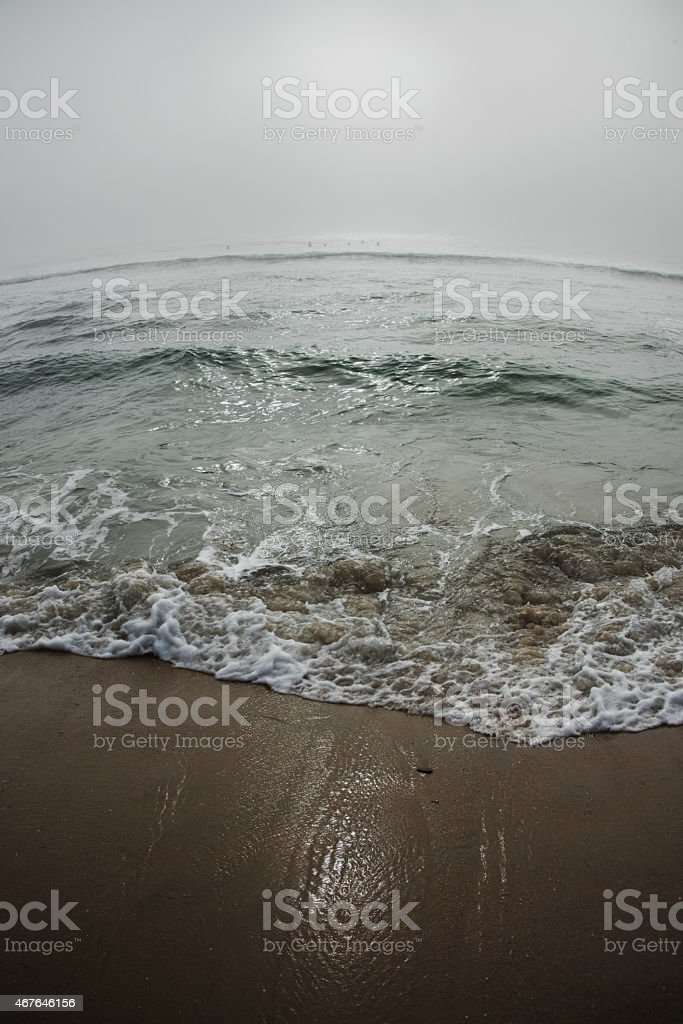 Wide Angle Beach Wave Abstract stock photo