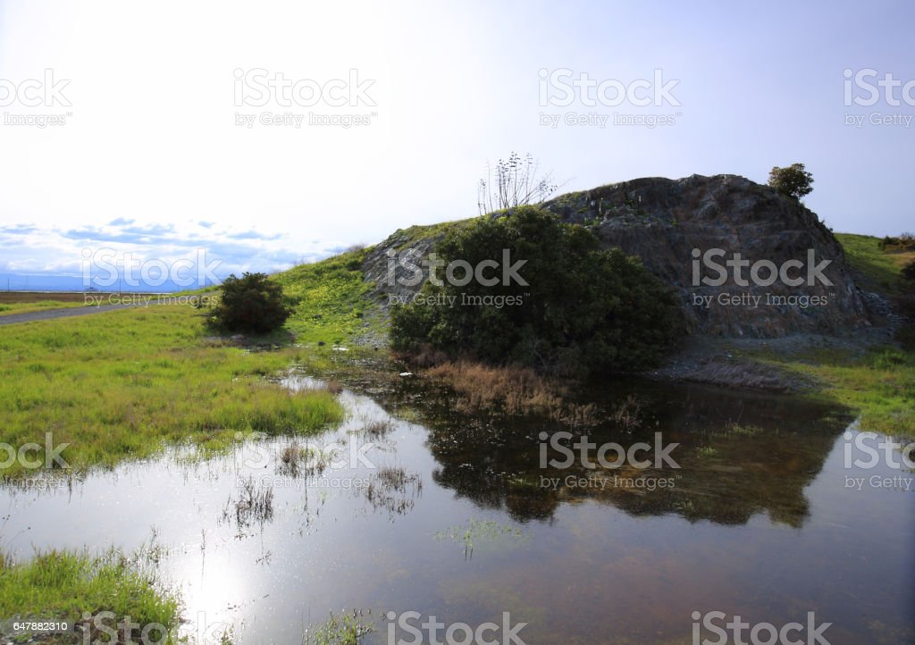 Wide angle landscapes stock photo