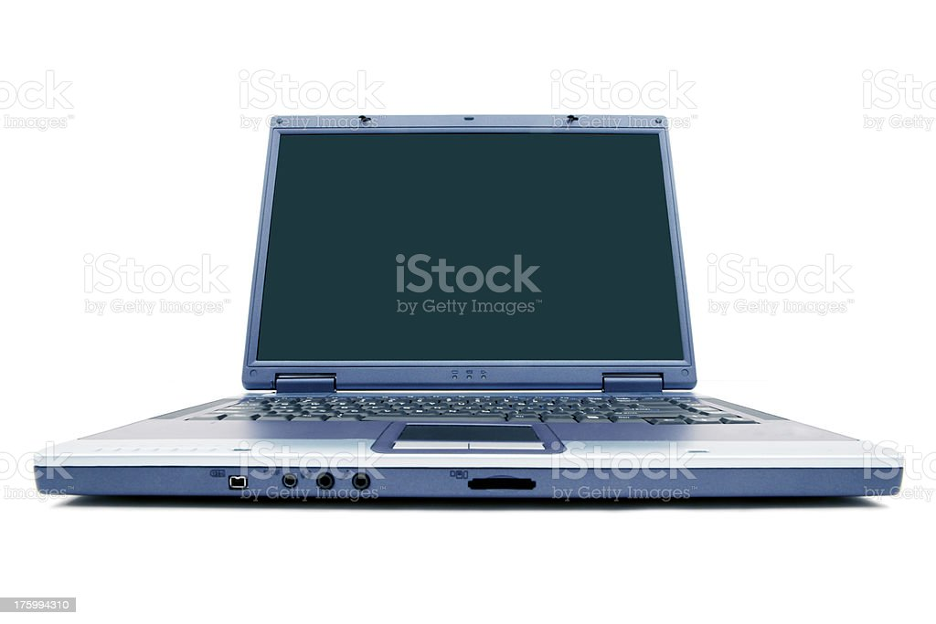 Wide Angle Laptop stock photo