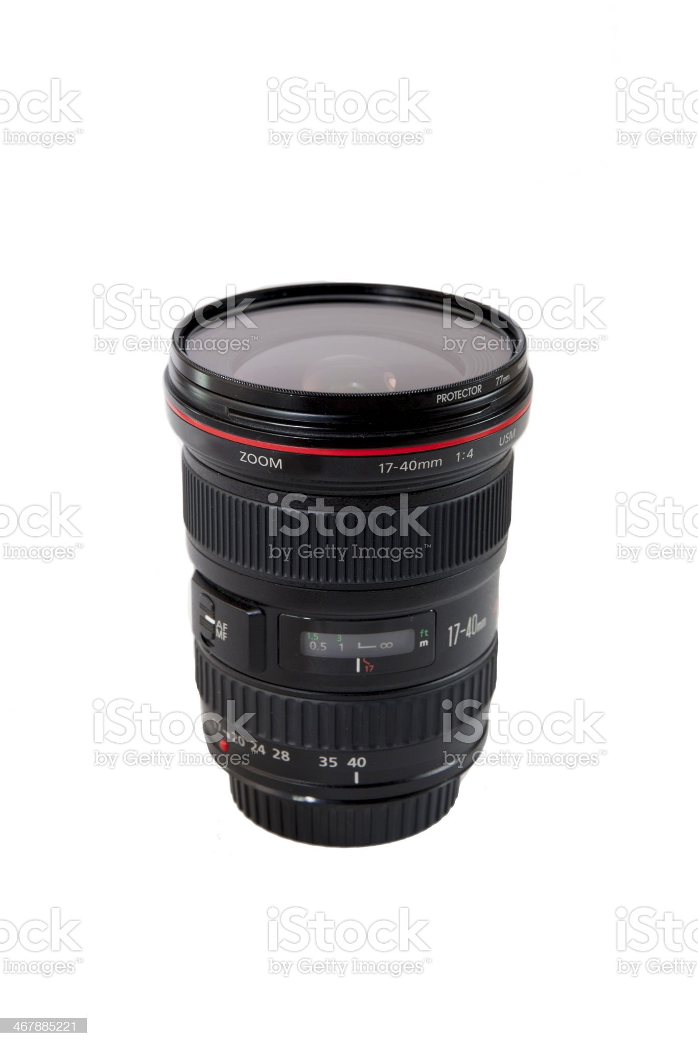 Wide angle lens royalty-free stock photo