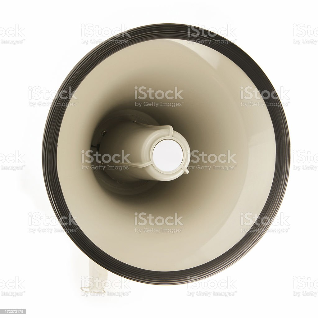 Wide Angle Megaphone royalty-free stock photo