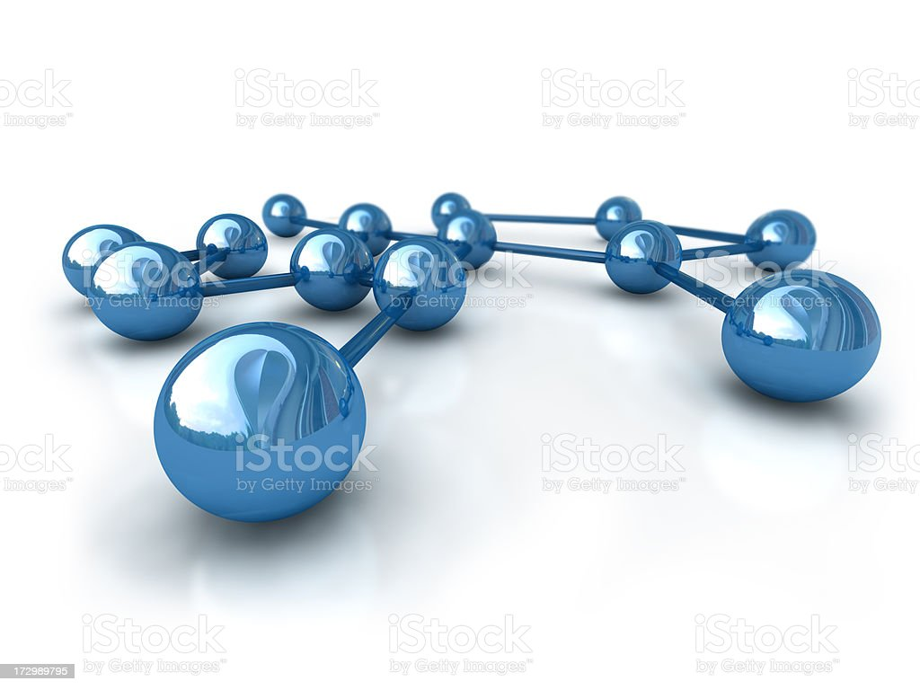 Wide Angle Neuronal Network royalty-free stock photo