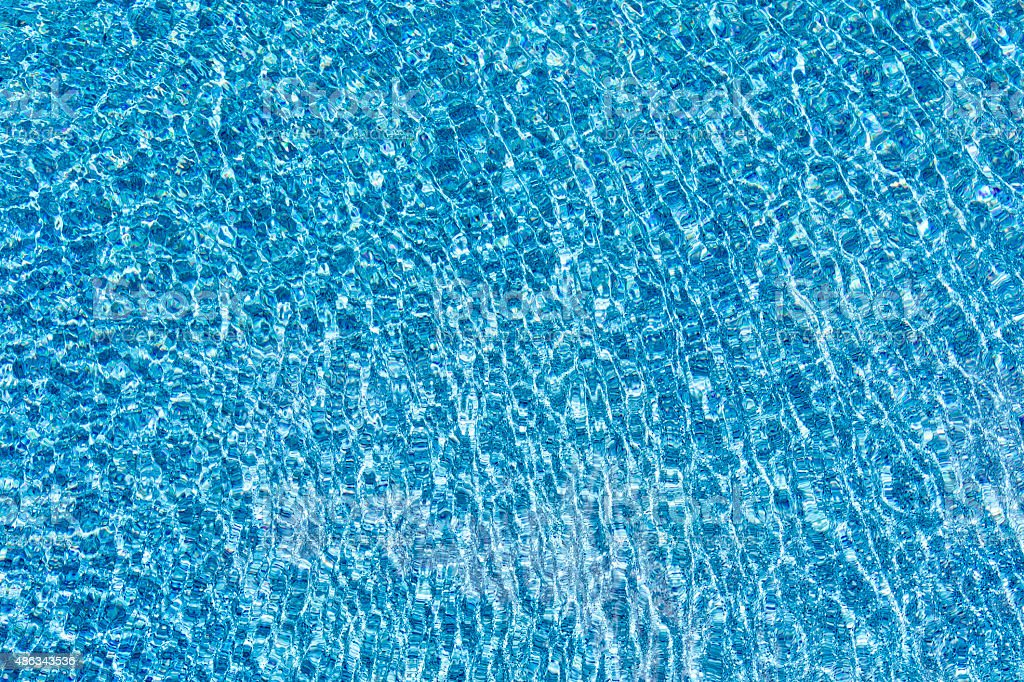 Wide Angle of Swimming Pool with Blue Tile stock photo