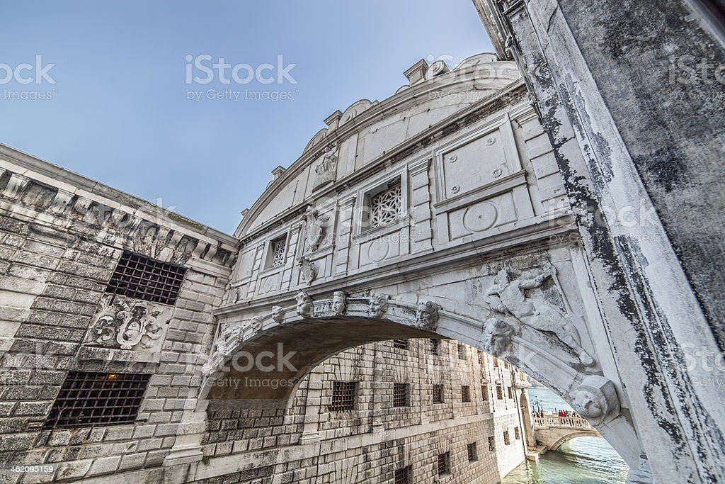 Wide angle on Bridge of Sighs royalty-free stock photo