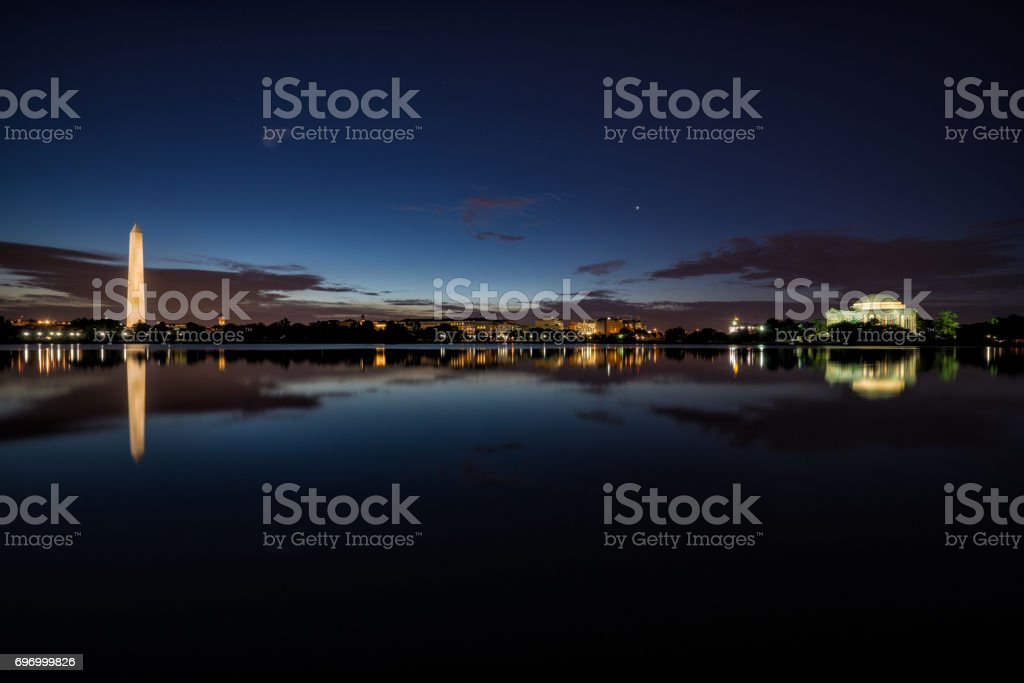 Wide angle Reflections stock photo