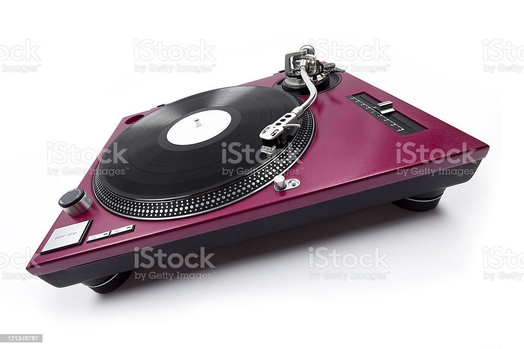 Wide Angle Turntable Front View royalty-free stock photo
