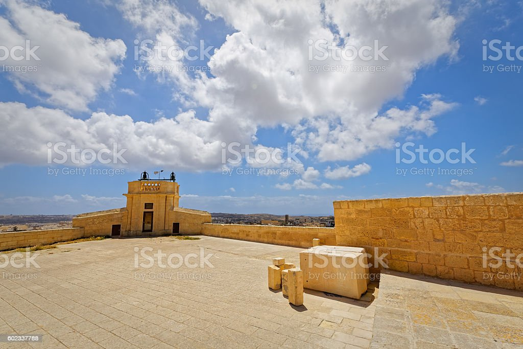 Wide angle view of the Citadel Square, Victoria, Gozo stock photo