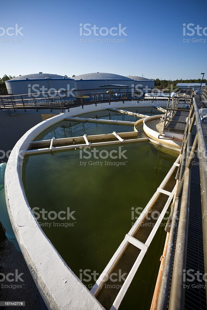 Wide Angle View of Water Purification Plant royalty-free stock photo