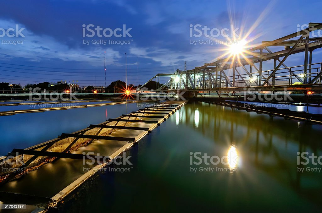 Wide Angle View of Water Purification Plant stock photo