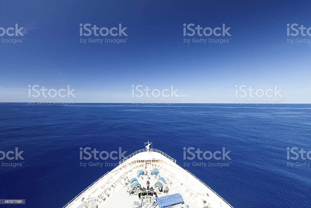 Wide Blue Ocean stock photo