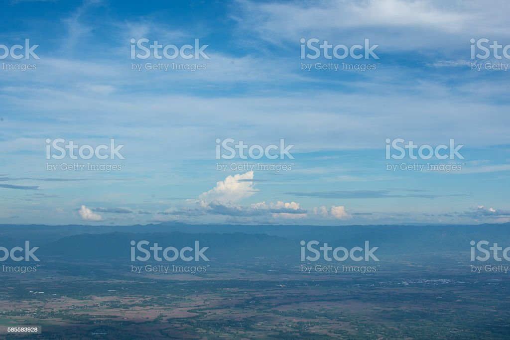 Wide Blue scene stock photo