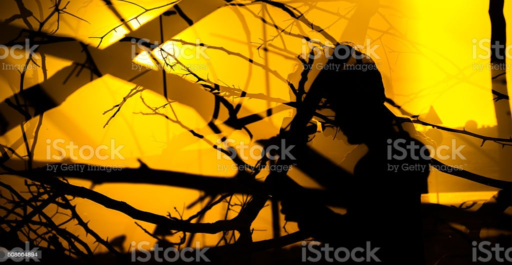 Wide Composition - Human Race, Nature and Development stock photo