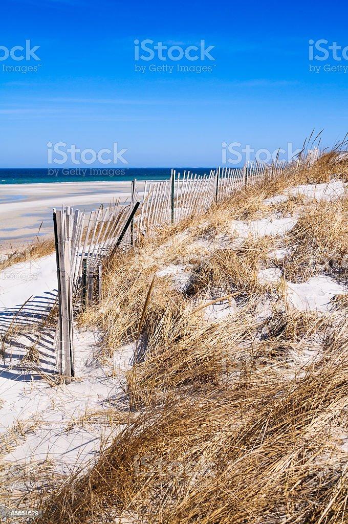 Wide Dennis Beach stock photo