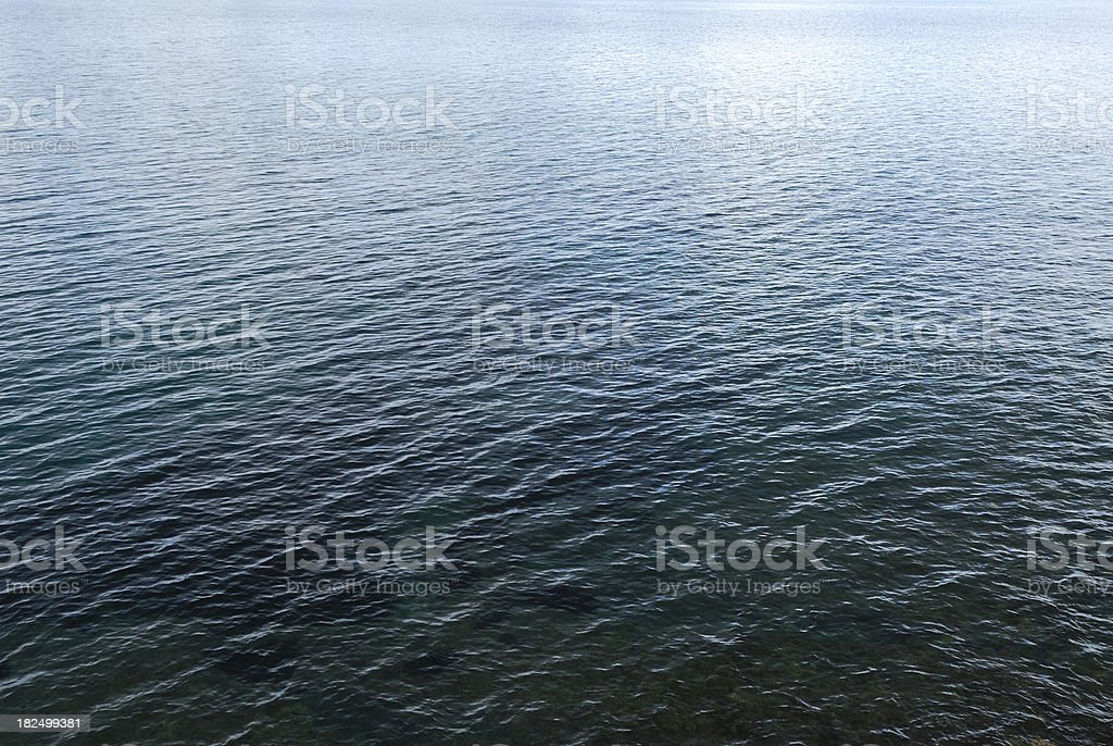 Wide Expanse of Sea royalty-free stock photo
