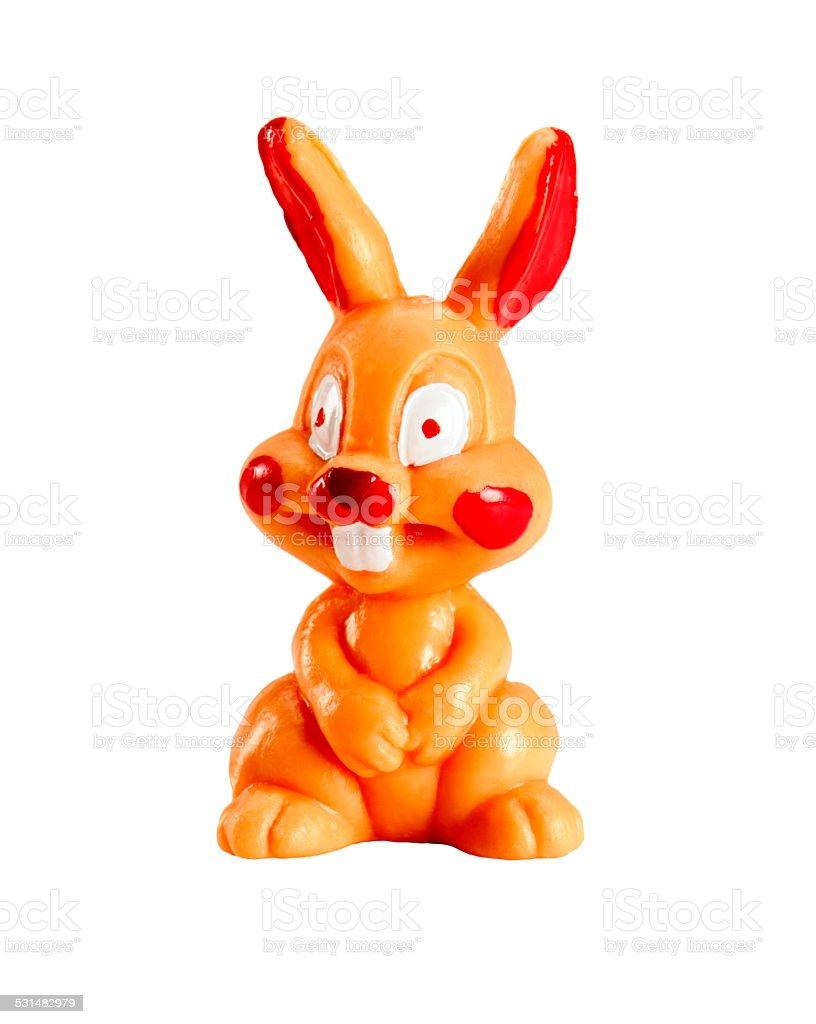 Wide Eyed Rabbit stock photo