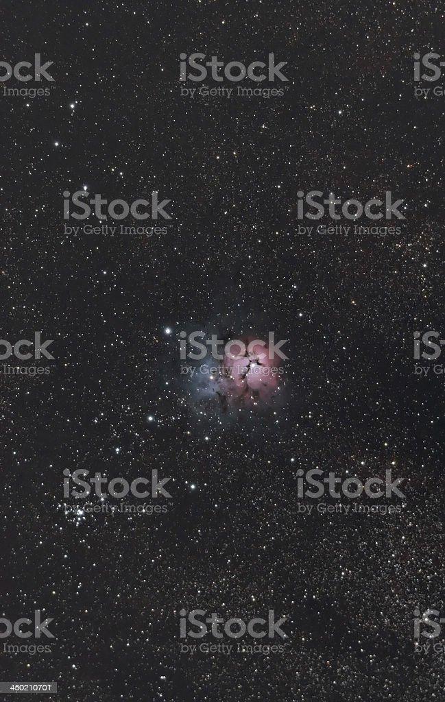 Wide Field Trifid Nebula in Sagittarius stock photo