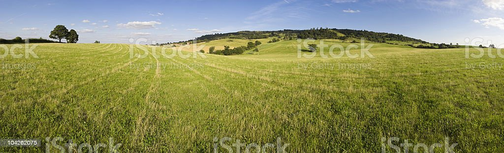 Wide green pastures royalty-free stock photo