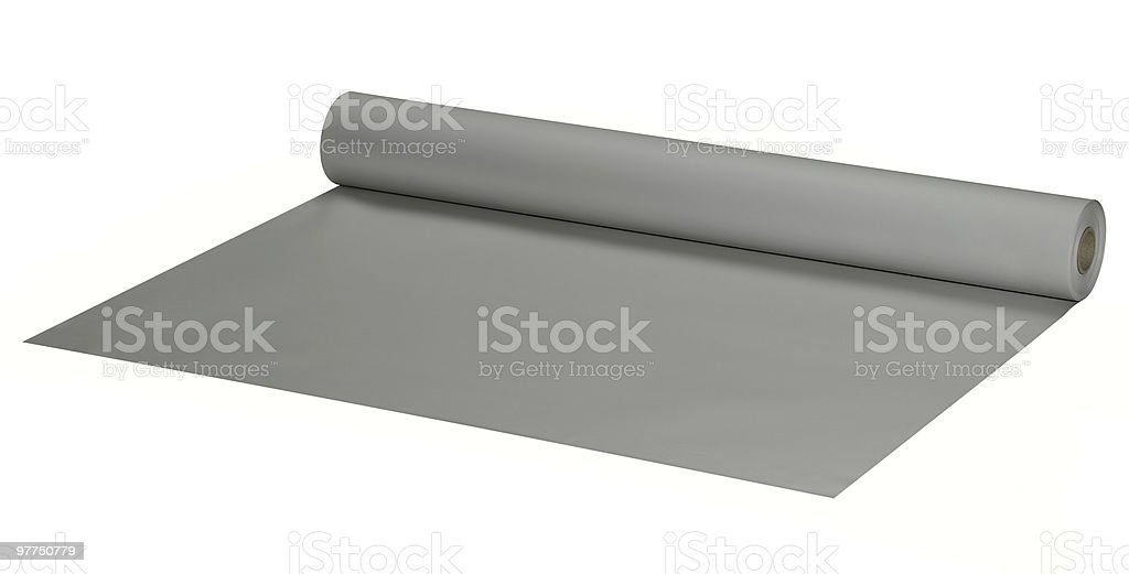 wide grey roll stock photo