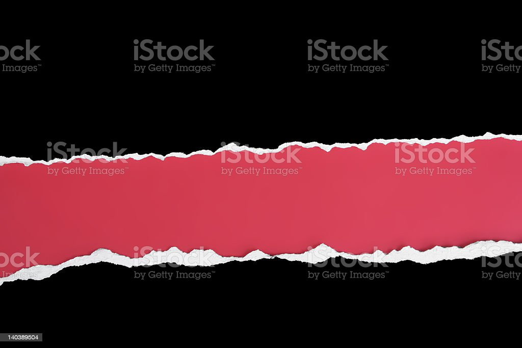 Wide horizontal double tear stock photo