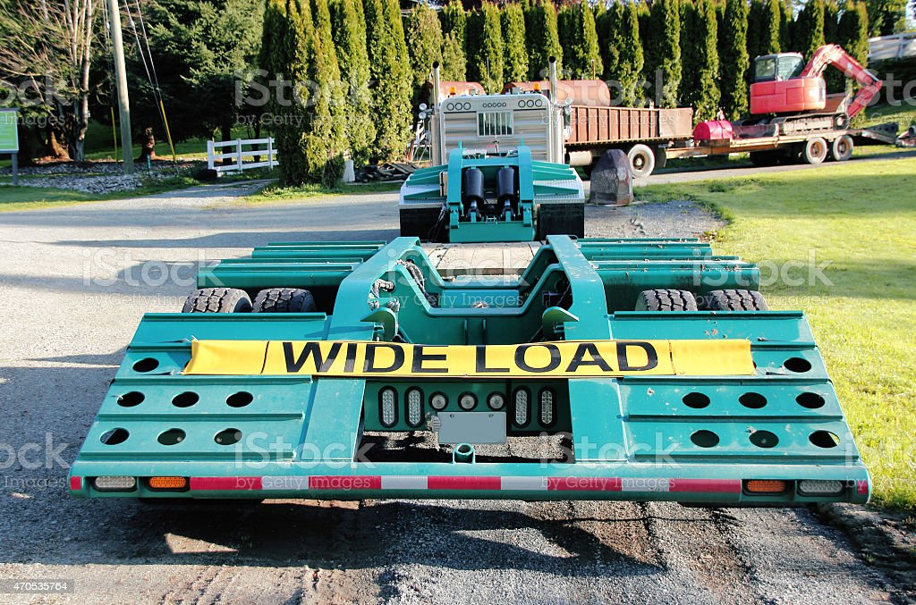 Wide Load stock photo