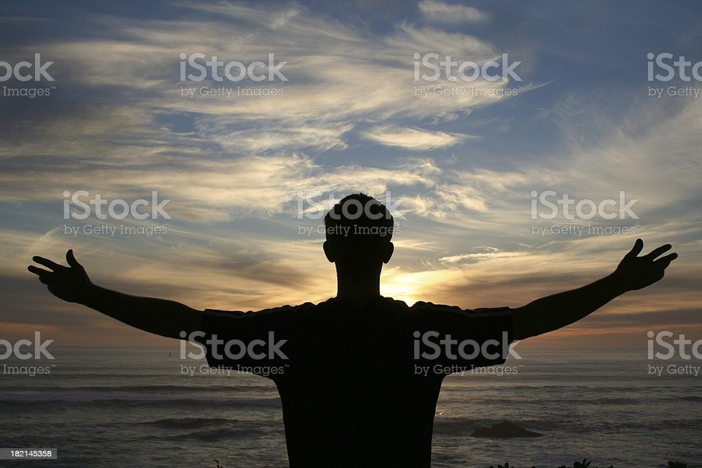Wide Open Arms royalty-free stock photo