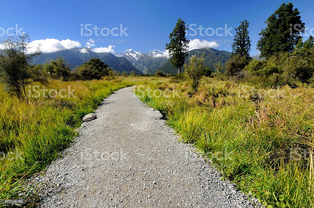 Wide Open Landscape Path stock photo