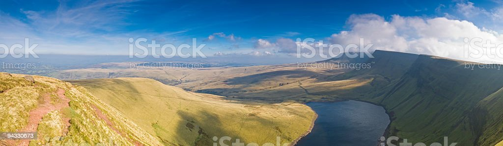 Wide open spaces, mountain landscape royalty-free stock photo