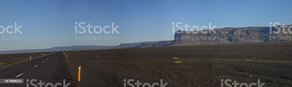 Wide Open Straight Road royalty-free stock photo